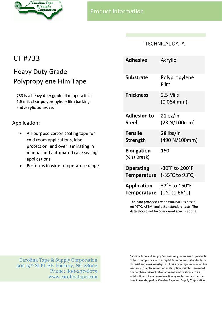 Plastic Film Series Heavy Duty Grade Polypropylene Film Tape Ipg 291 733