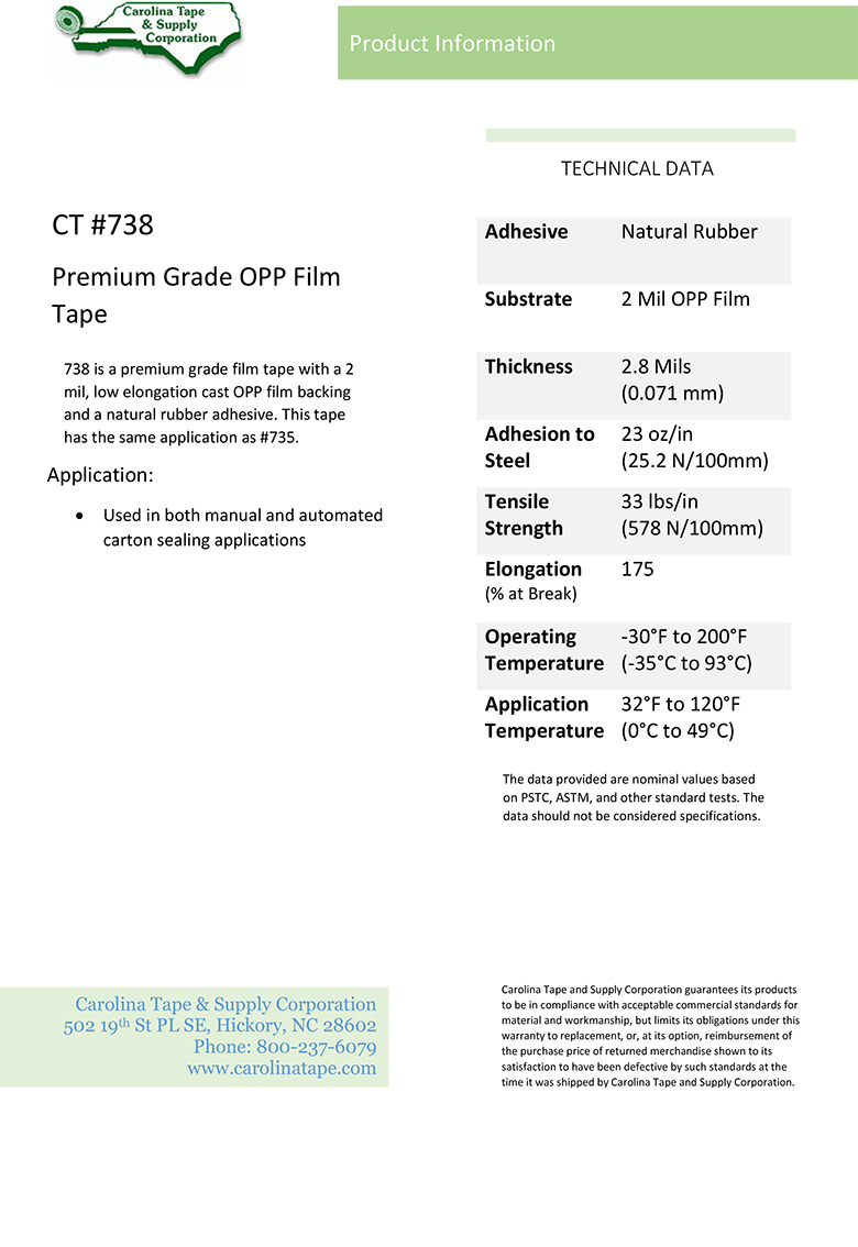 Plastic Film Series Premium Grade Opp Film Tape Central 520 738